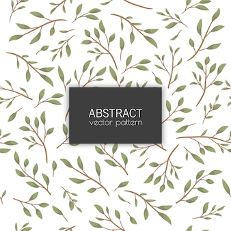 Cute floral seamless pattern with leaves