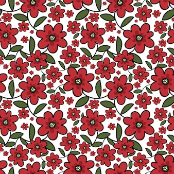 Cute floral seamless pattern.