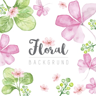 Cute Floral Watercolor Background