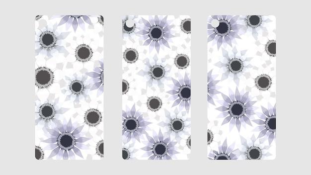 귀여운 꽃 꽃 태그 컬렉션 레이블 할인 가격 세트 판매
