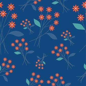 Cute flower seamless pattern background