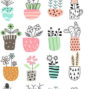 Cute flower seamless pattern