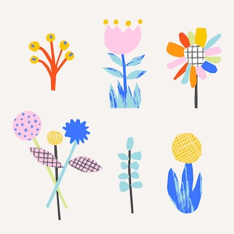 かわいい花抽象的なイラスト