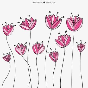 Милые цветы рисунок