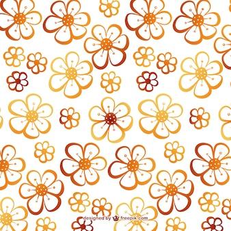 Cute flowers editable pattern