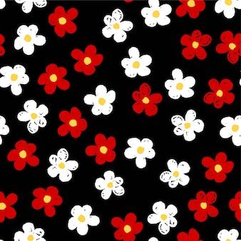 원활한 귀여운 꽃 패턴입니다.