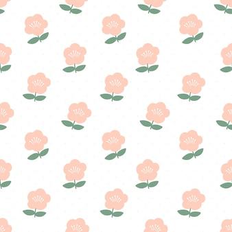 귀여운 꽃 원활한 패턴 배경