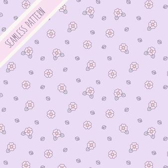 귀여운 꽃 원활한 패턴 프리미엄