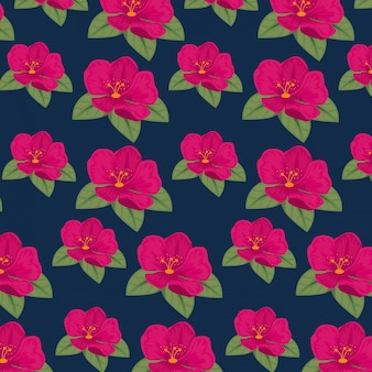 Cute flowers with natual petals and leaves background