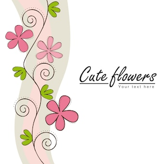 Cute flowers with space for copy vector illustration