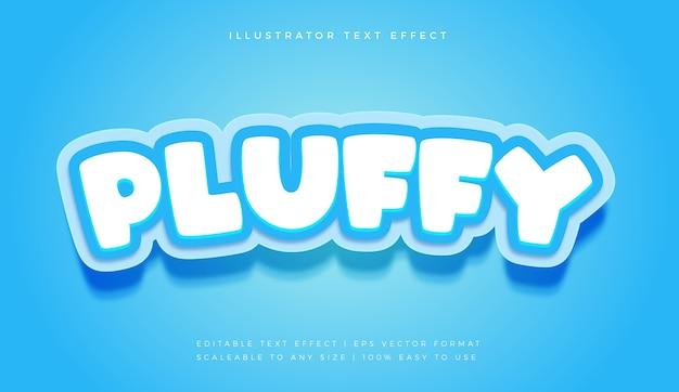 Симпатичный пушистый синий текстовый эффект шрифта