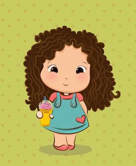 Cute fluffy girl