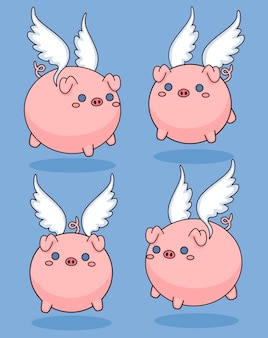 Симпатичные летающие свиньи