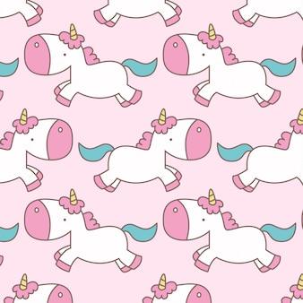 Cute flying unicorn pattern