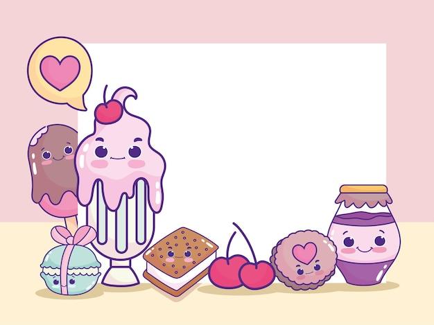 Милый мультфильм еды
