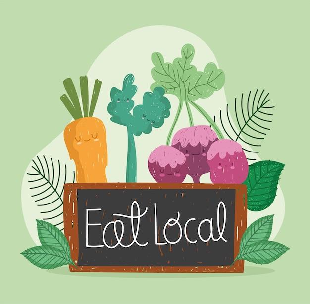 Cute food eat local