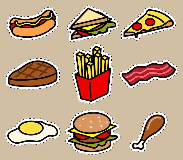 Cute food icon sticker