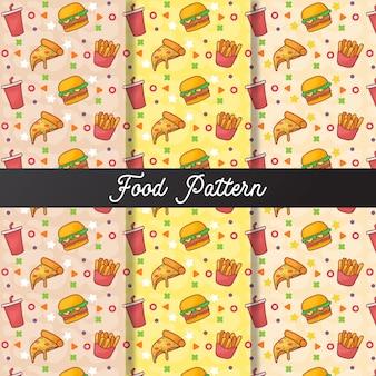 かわいい食べ物のシームレスなパターン
