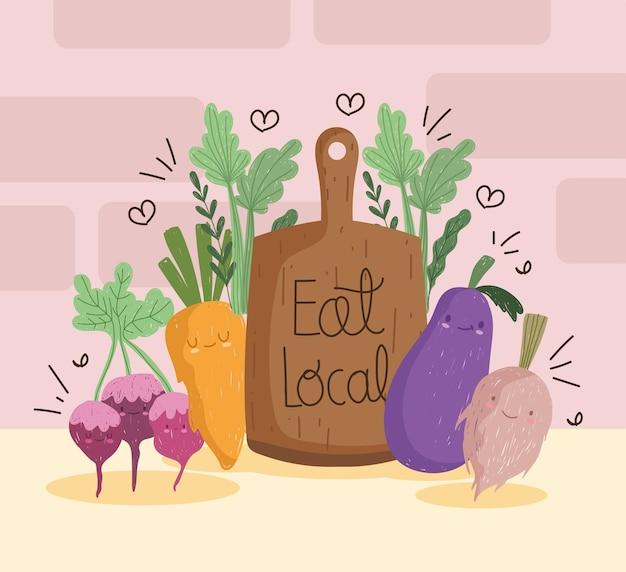 Cute food vegetables
