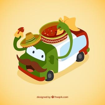 Cute мексиканскую foodtruck