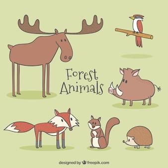 Персонажи симпатичные лесные животные