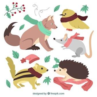 귀여운 숲 동물 세트