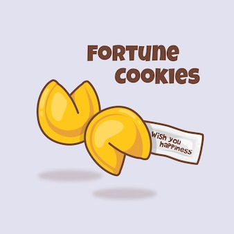 Симпатичные fortune coolies иллюстрации шаржа