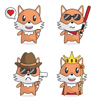 Cute fox bunddle