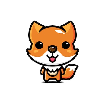 かわいいキツネのキャラクターデザイン