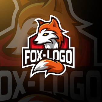 Cute fox gaming logo esport
