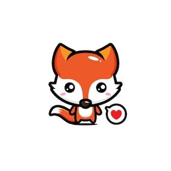Cute fox mascot vector design