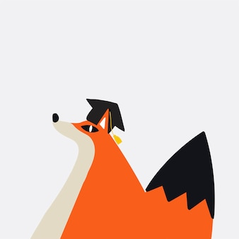 Cute fox in s cartoon style vector