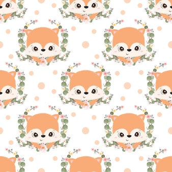 Cute fox seamless pattern for children fabric wallpaper and many more