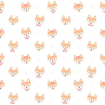 Симпатичная лиса бесшовные модели