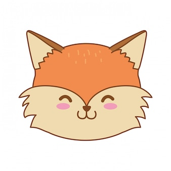Cute fox woodland character