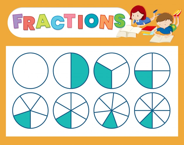 A cute fraction worksheet