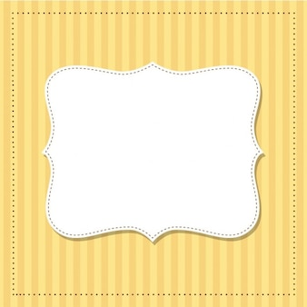 Cute frame on a yellow background