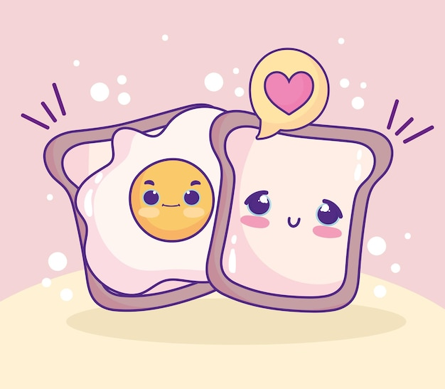 Милый жареный яичный хлеб
