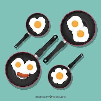 Cute fried eggs