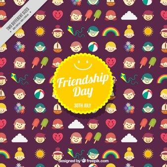 Симпатичные дружба день фон