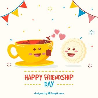 Cute friendship day background