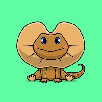 Cute frilled neck lizard
