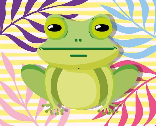 かわいいカエル動物の漫画