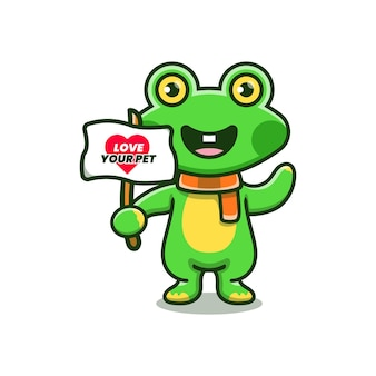 Cute frog campaign to love your pet