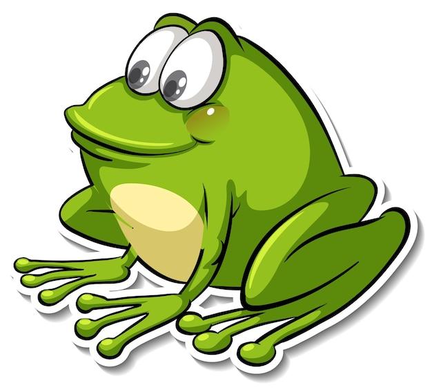 Un simpatico adesivo animale cartone animato rana