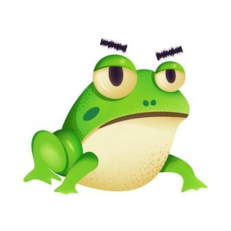 Мультфильная иллюстрация с милой лягушкой