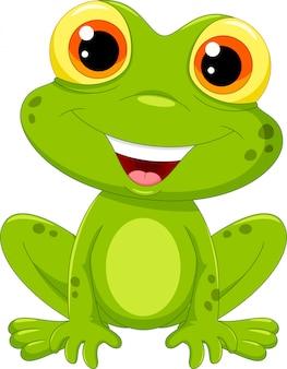 Милый мультфильм лягушка