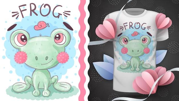 Cute frog - childish cartoon character animal