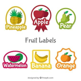 귀여운 과일 라벨 선택