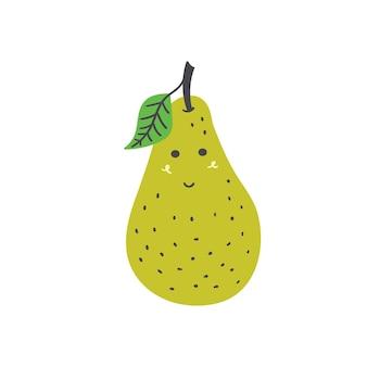 Cute fruit pear